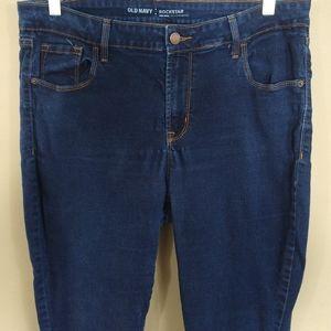 Old Navy Rockstar Mid-Rise Skinny Jeans Sz 16S